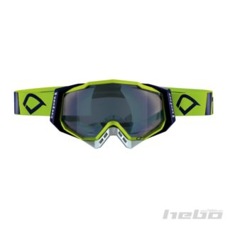 Hebo QUANTUM Brille - Cross/Enduro - Lime/blå